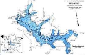 Seneca Lake Fishing Map Southeast Ohio Go Fish Ohio