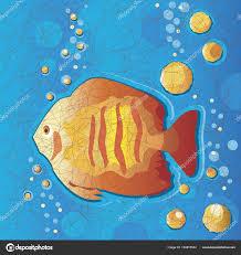 Batik Fish Design Batik Design Tropical Fish Underwater Stock Vector