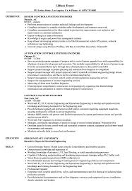 Controls Systems Engineer Resume Samples Velvet Jobs