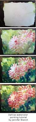 dahlia watercolor painting tutorial by jennifer branch