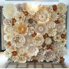 Buy Paper Flower Incredible Paper Flower Wedding Wall Custom And Handmade To