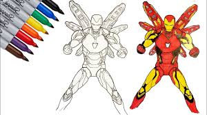 You can use our amazing online tool to color and edit the following iron man cartoon coloring pages. Iron Man Mark 85 Iron Man Endgame Coloring Pages Sailany Coloring Kids Youtube