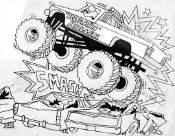 Our coloring pages are free and classified by theme, simply choose and print your drawing to color for hours! Free Printable Monster Truck Coloring Pages For Kids