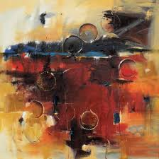 radiant horizon 30 x 30 abstract oil painting 1800