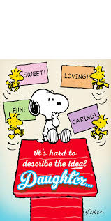 Peanuts Snoopy And Woodstock Mothers Day Card For Daughter