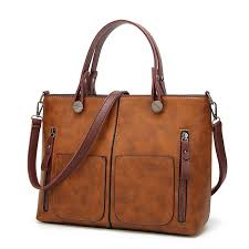 leather tote bag with zipper for women all purpose vintage style in womens bags