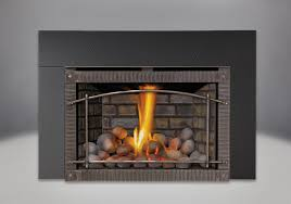 napoleon xir3nsb infrared delux series direct vent gas fireplace with phazer log set