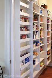 shallow pantry shelves of varying depths