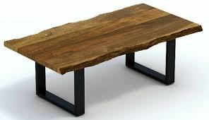 117cm wide living edge acacia wood and