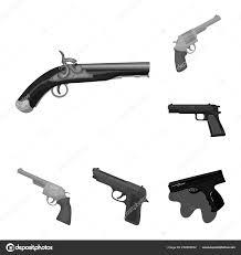 Design Pistol Vector Design Of Revolver And Pistol Icon Set Of Revolver