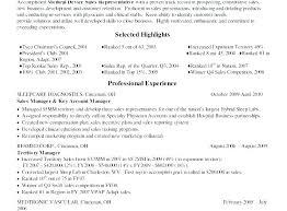 Sample Resume For Medical Representative For Medical Representative ...