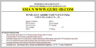 Download bank contoh soal bahasa indonesia kelas 7 (tujuh) kurikulum 2013 semester 1 dan 2 beserta kunci jawaban dan pembahasannya. Soal Jawaban Pat Bahasa Sunda Kelas 10 Sma Tahun 2021 Info Pendidikan Terbaru