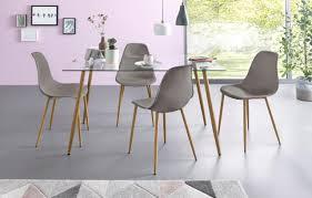 Cantus Schrankbett Grau Stoff Esszimmerstühle Online Kaufen