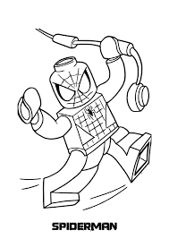 Spiderman Lego Coloring Sheets For Free Celebrate Good Times