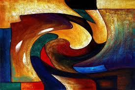 abstract modern wall deco art photos oil painting by mostwantedmodernart