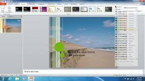 How To Insert The Powerpoint 2010 Background Image
