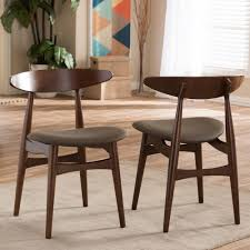 upolstered dining chairs. Baxton Studio Flamingo Dark Brown Fabric Upholstered Dining Chairs (Set Of 2) Upolstered