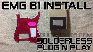 how to install an emg 81 pickup into a stratocaster pickguard how to install an emg 81 pickup into a stratocaster pickguard
