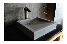 16 bathroom sink gray basalt stone