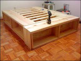 king storage bed plans. Full Size Bed Frame With Storage Plans Woodworking Pinterest Inside Homemade King Decor 14 S