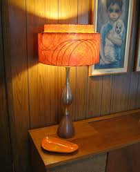 home accessories awesome orange glass table lamp with geometric and also appealing benches trend