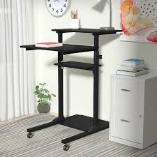 standing computer desk. Contemporary Standing Degregorio Mobile Height Adjustable Computer Work Station Standing Desk Throughout I