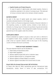 Trade finance post and pre shipment