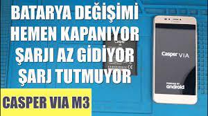 CASPER VIA M3 KAPANIYOR! ŞARJI HEMEN BİTİYOR SORUNU ÇÖZÜMÜ! - YouTube