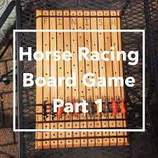 Wooden Horse Race Game Pattern Magnificent DIY Horse Racing Board GamePart 32 YouTube