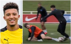 But don't go that far. Jadon Sancho Shocked After Embarrassing Man Utd S Harry Maguire In England Training Metro News