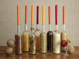 View in gallery Wine bottle centerpiece idea for Thanksgiving