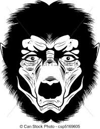 werewolf face drawing. Brilliant Drawing Werewolf Face  Csp5169605 On Drawing I