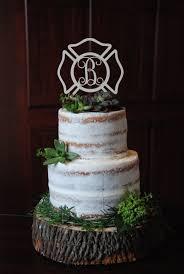 Personalized Cake Topper Maltese Cross Fireman Firefighter