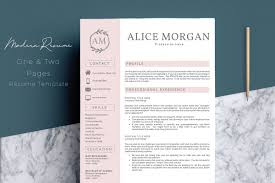 Professional Design Resume Professional Creative Resume Template Alice Morgan