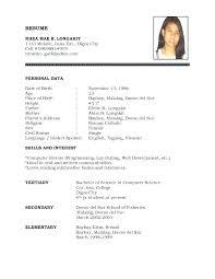 Simple Resume Format Adorable Easy Resume Format Keep It Simple Resume Template Easy Resume Format