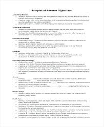 Career Objectives For Resume Examples Career Objective Accounting Examples Objectives For Resume Sample 69