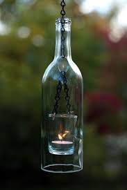 Hanging Lantern - Homemade Wine Bottle Crafts, http://hative.com/
