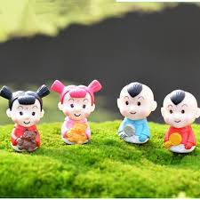 cute figure boys and girls kids fairy garden miniatures gnomes moss terrariums resin craft for home decoration accessories diy gag gifts for boys mens fun
