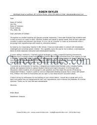 Teacher Aid Cover Letter