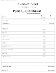 5 Year Income Statement Template Projected Pro Forma Excel