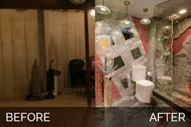 basement bathroom before and after. brian \u0026 danica\u0027s basement bath before after pictures | home remodeling contractors sebring design build bathroom and