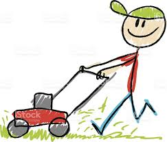 lawnmower drawing. stick figure lawn mower royalty-free stock vector art lawnmower drawing r