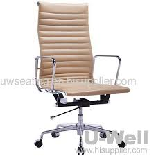 eames ribbed chair tan office. 2015 Popular Hot Europe Market Good Selling Eames Executive Aluminum Leather High Back Office Chair Beige Ribbed Tan E