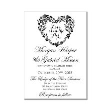 Microsoft Word Hearts Wedding Invitation Template Love Is In The Air Heart