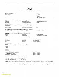 Resume Lovely Resume Template For Actors Resume Template For