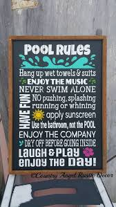 Swimming Pool Decor Signs Pool Sign Swimming Pool Sign Custom Sign Outdoor Sign Deck 78
