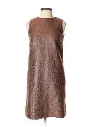 Details About Red Valentino Women Brown Cocktail Dress 40 Italian