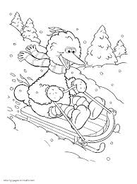 Small Picture Sesame Street Big Bird Coloring Pages Coloring Coloring Pages