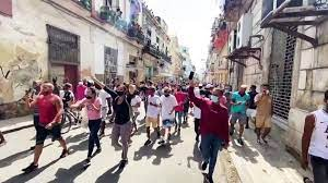 Thousands Take to Streets of Cuba to ...