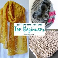 Beginner Knitting Patterns Inspiration Easy Knitting Patterns For Beginners AllFreeKnitting